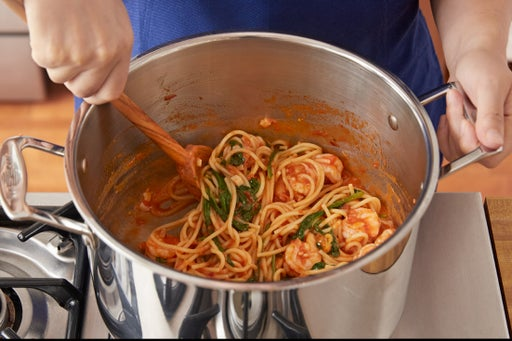 Finish the spaghetti: