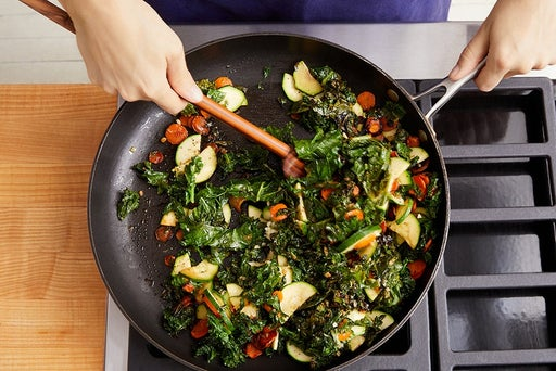 Cook the carrots, kale & zucchini