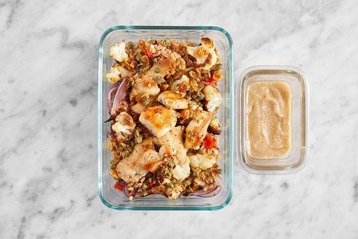 Assemble & Store the Seared Chicken & Farro