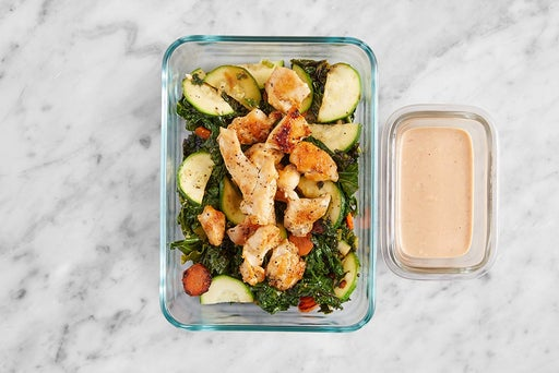 Assemble & Store the Asian-Style Chicken & Spicy Mayo