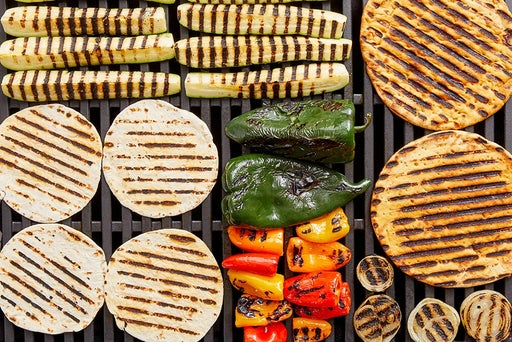 Grill the vegetables, tortillas & pitas