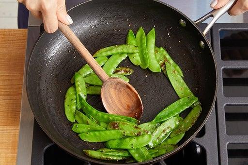Cook & marinate the snow peas