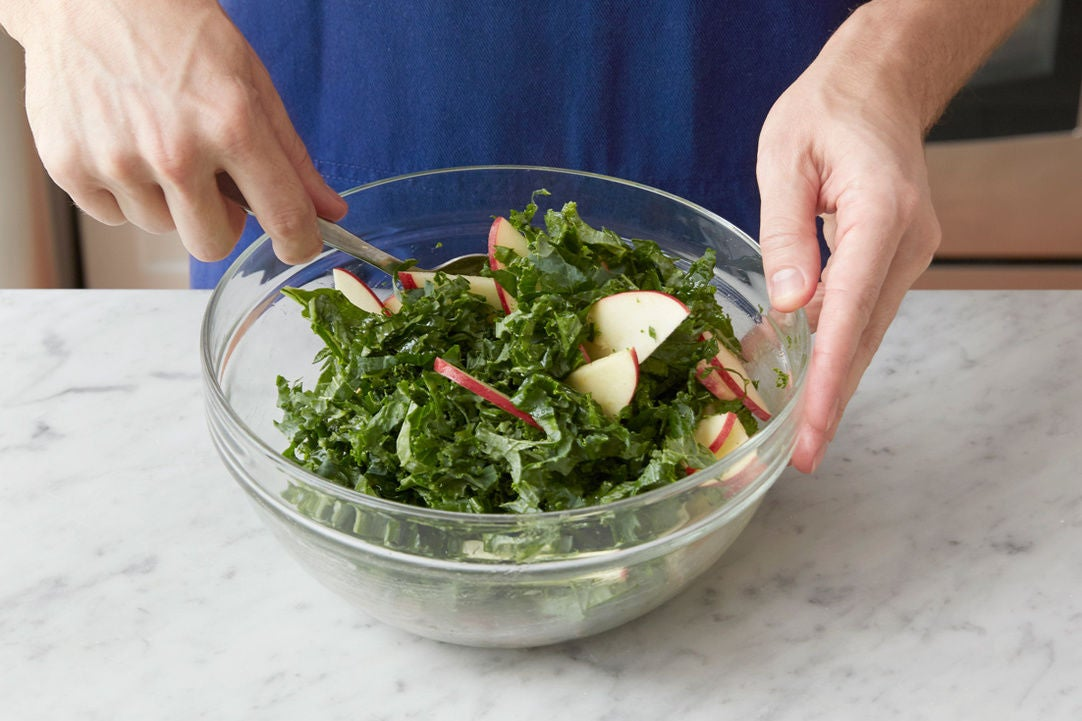 Prepare the remaining ingredients & make the salad:
