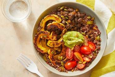 Discontinued Black Bean & Quinoa Bowls with Guacamole & Roasted Delicata Squash