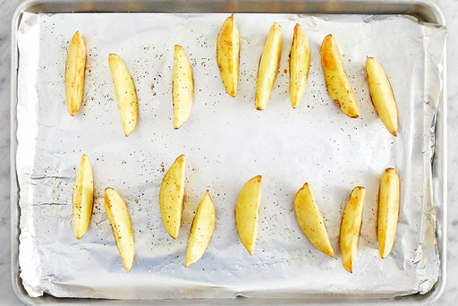 Roast & finish the potatoes
