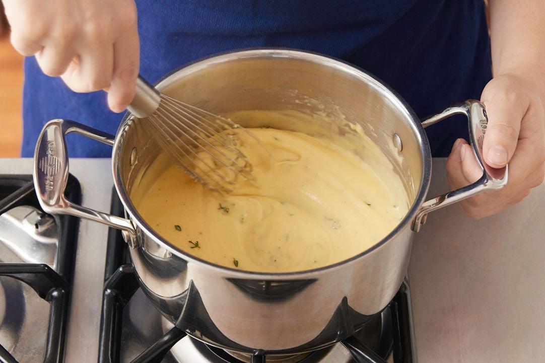 Make the cheese sauce: