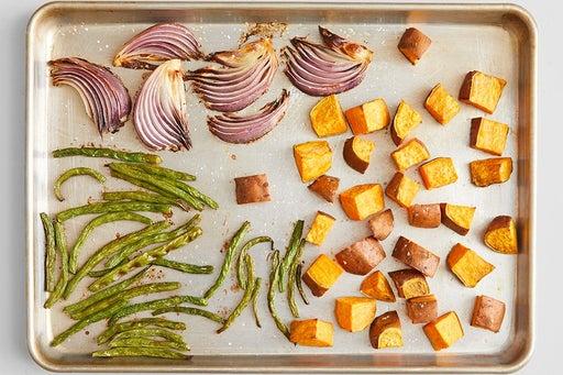 Prepare & roast the vegetables