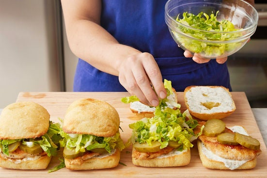Assemble the sandwiches & serve your dish: