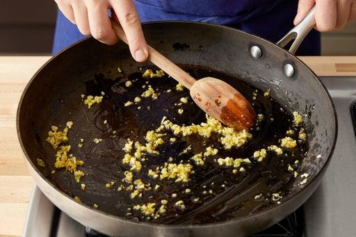 Cook the lemongrass & ginger