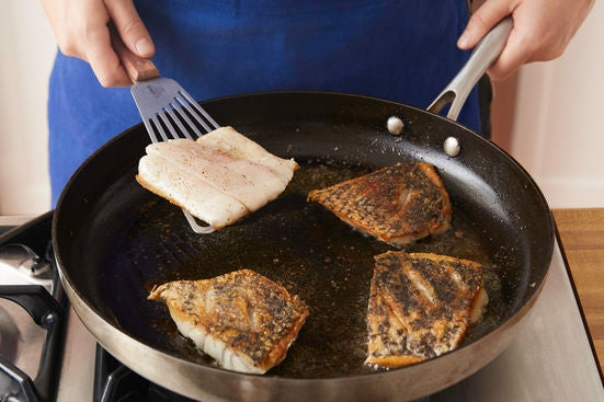 Cook the barramundi & serve your dish: