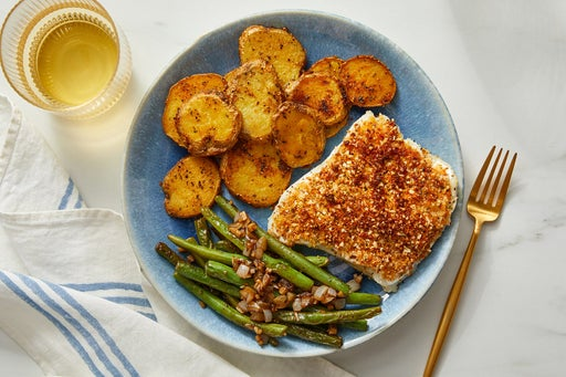 Discontinued Parmesan-Almond Roasted Cod with Green Beans & Potatoes