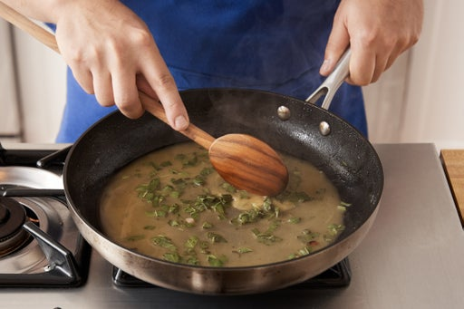 Make the brown butter sauce: