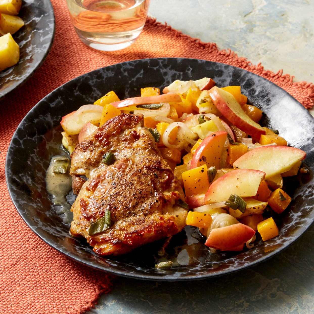 Sage & Brown Butter Chicken with Roasted Fall Vegetables