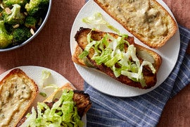 Cajun-Spiced Catfish Sandwiches with Roasted Broccoli & Rémoulade Sauce