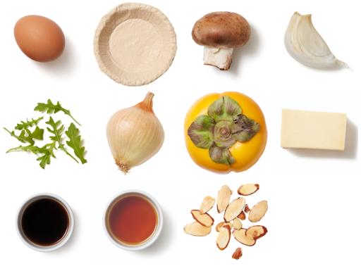 Smoked Gouda & Mushroom Quiche with Arugula Salad & Honey Vinaigrette
