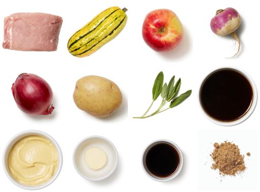 Autumn Pork Roast & Vegetables with Apple-Sage Pan Sauce