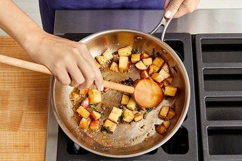 Make the pan sauce