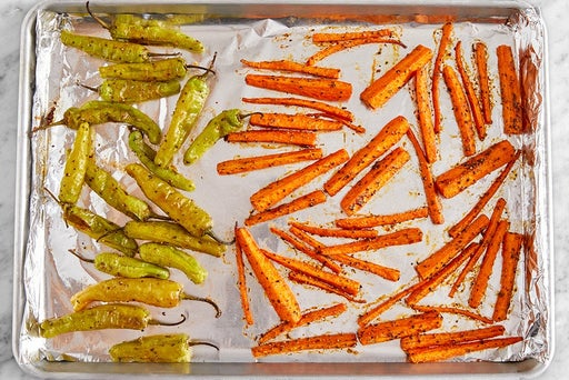 Roast the peppers & carrot fries