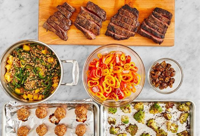 Carb Conscious with Seared Steaks & Turkey Meatballs