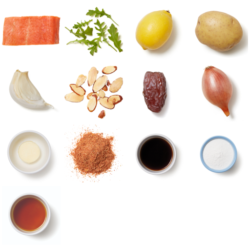 Smoky Seared Cod Roasted Potatoes & Date Pan Sauce
