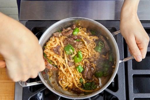 Finish the noodles & serve your dish