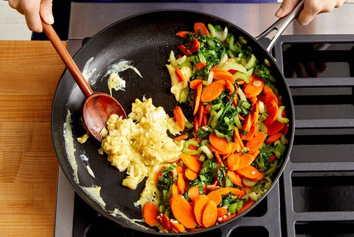 Cook the vegetables & eggs