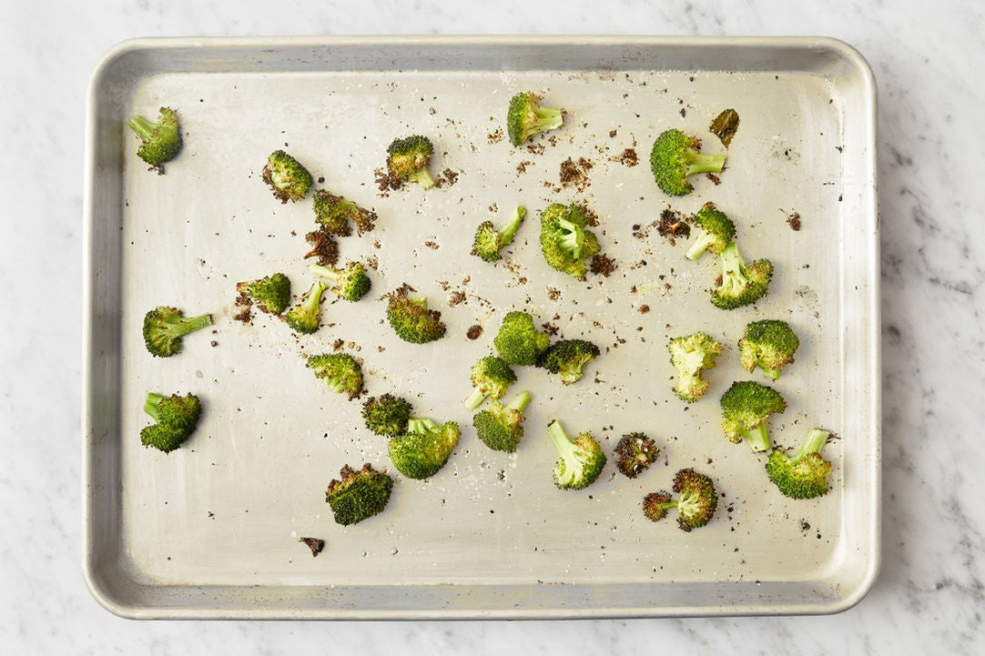 Roast the broccoli florets: