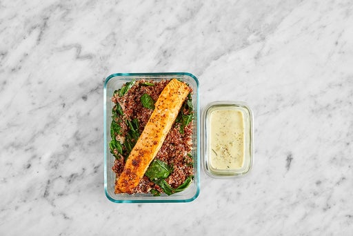 Assemble & Store the Southern-Style Salmon