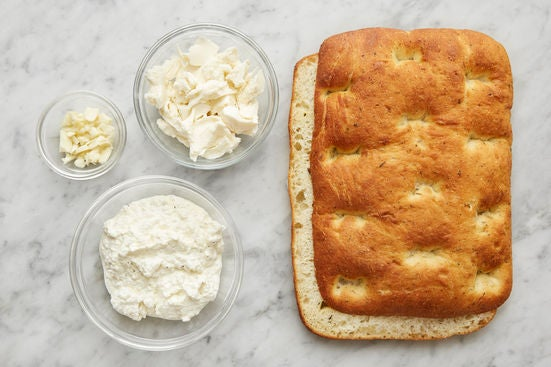 Prepare the remaining ingredients & season the ricotta: