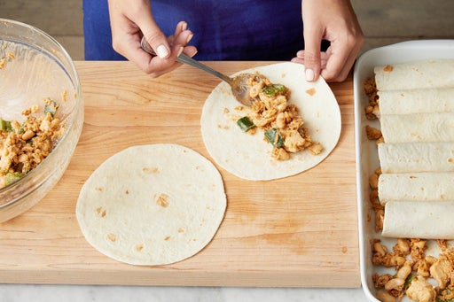 Make the enchiladas & serve your dish