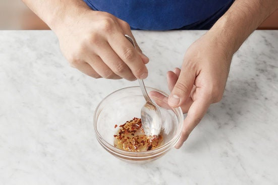Make the hot honey & plate your dish: