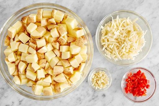 Prepare the mashed potato ingredients