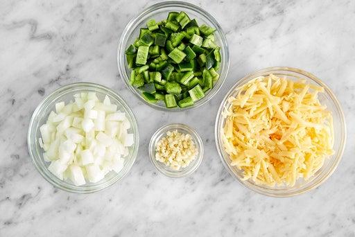 Prepare the cornbread ingredients