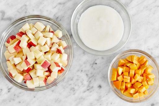 Prepare the crumble ingredients