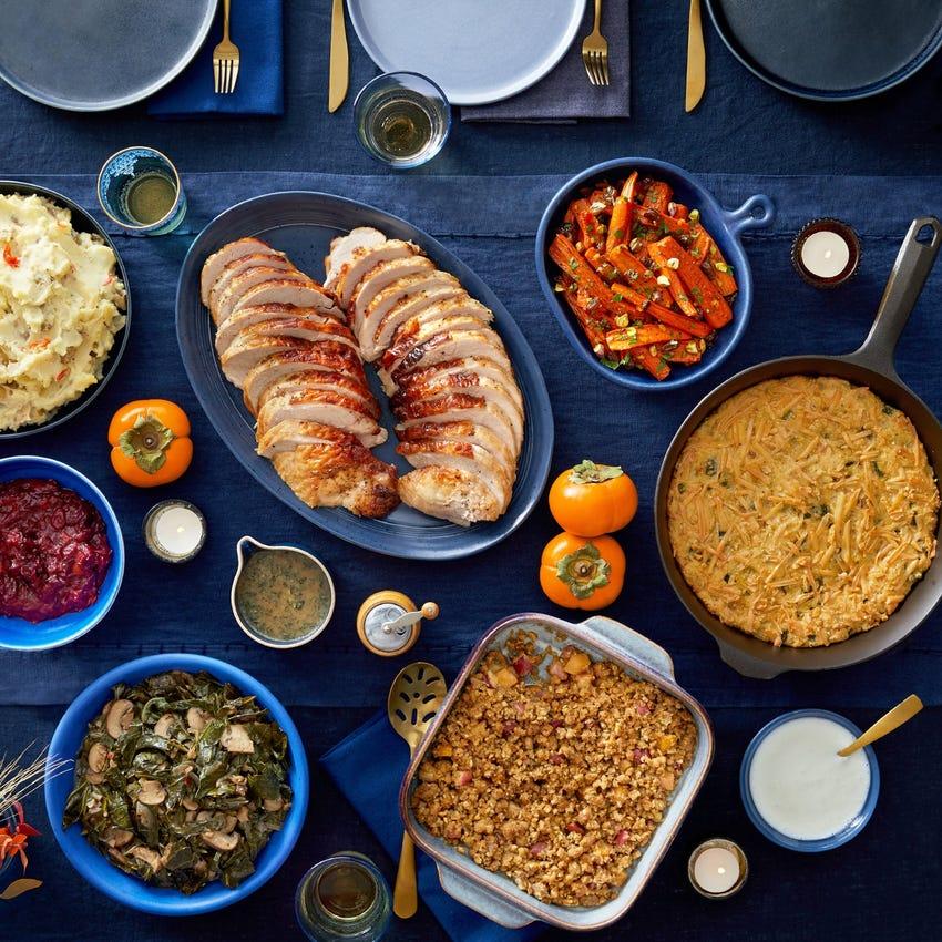 Turkey Feast serves 6 to 8