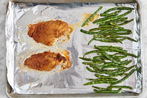 Roast the chicken & green beans