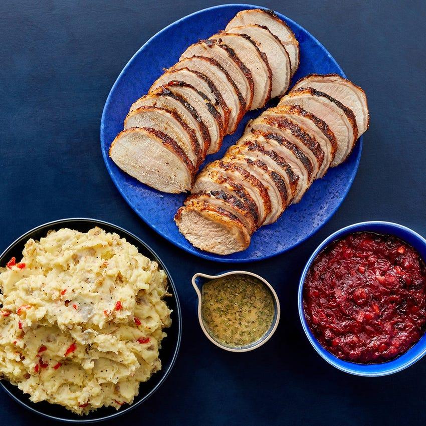 Pork Roast & Sides serves 6 to 8