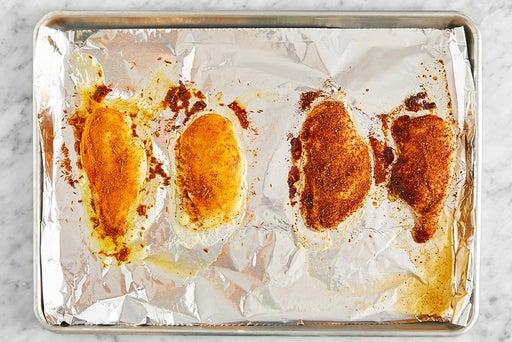 Bake & slice the chicken