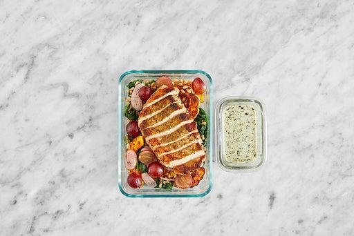 Assemble & Store the Tuscan Pork & Farro