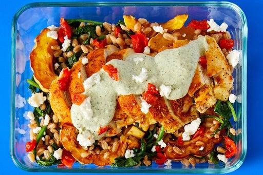 Finish & Serve the Shawarma-Baked Chicken
