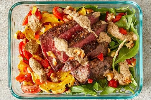 Finish & Serve the Steak & Arugula Salad