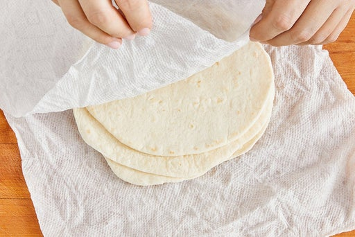 Warm the tortillas