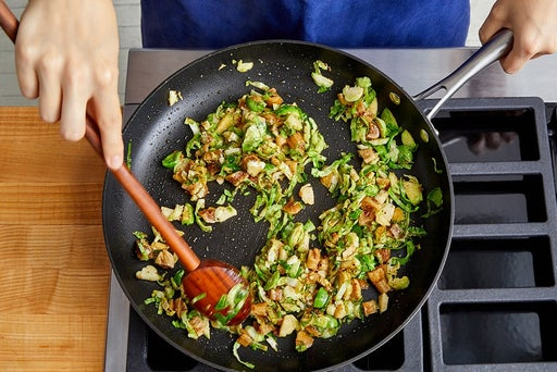 Cook the brussels sprouts & figs