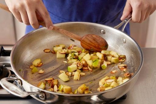 Make the apple relish: