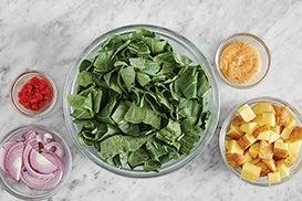 Prepare the ingredients & make the aioli