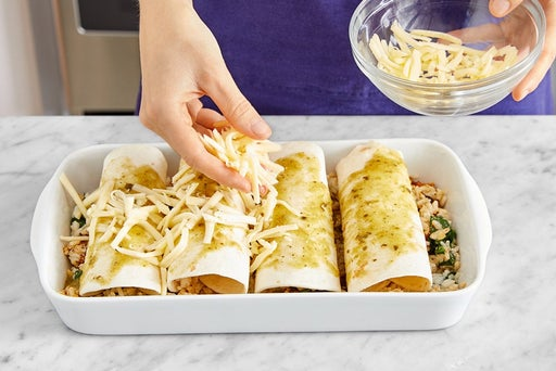 Assemble, bake & serve the enchiladas
