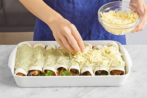 Bake the enchiladas & serve your dish