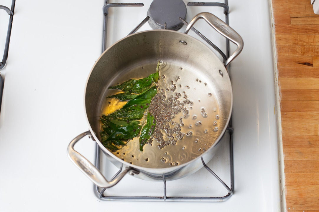Cook the aromatics: