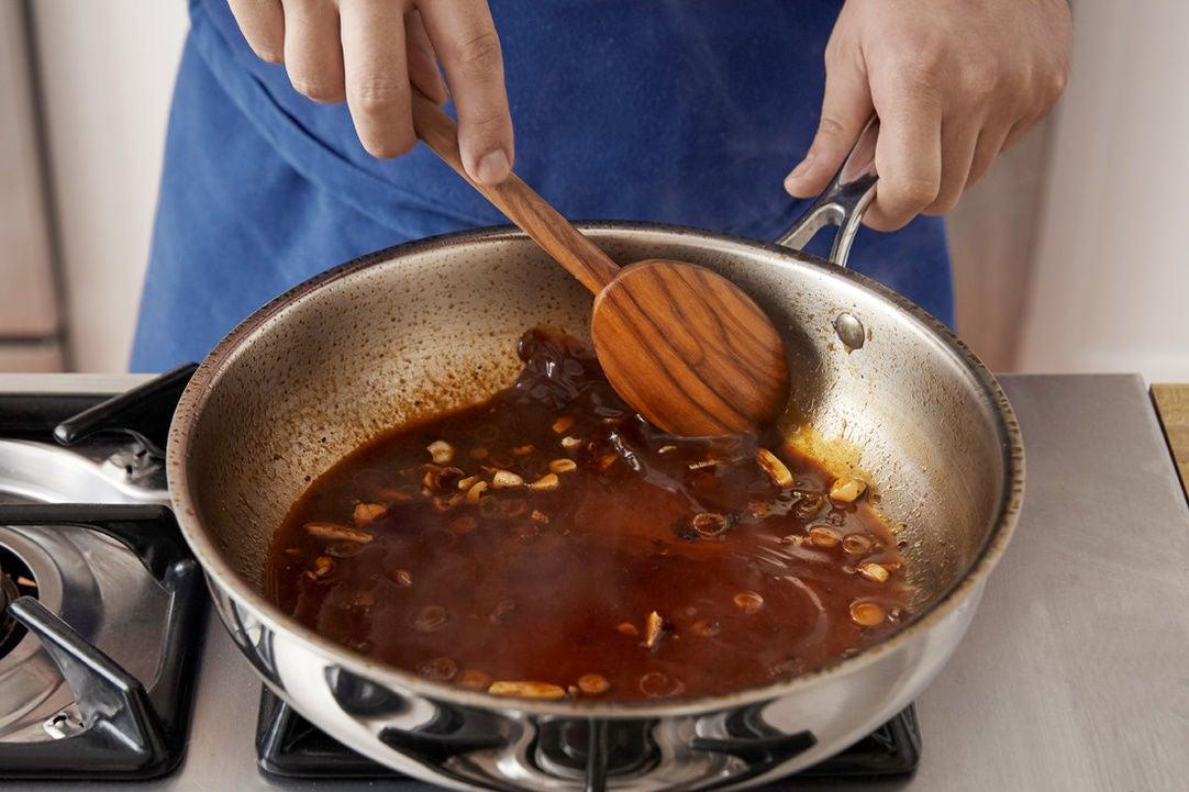 Finish the steak sauce: