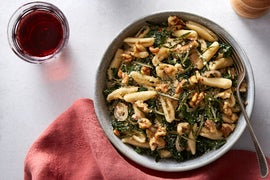 Fresh Cavatelli & Kale with Fried Rosemary & Walnuts